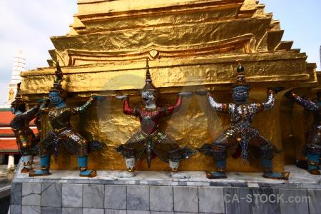 Thailand royal palace temple building wat phra si rattana satsadaram.