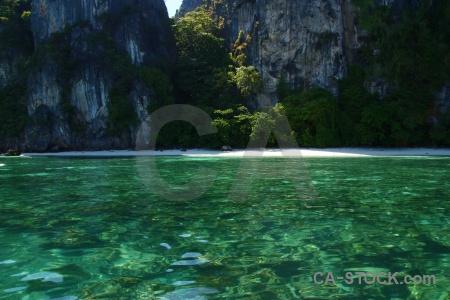 Thailand sea beach koh yung phi island.