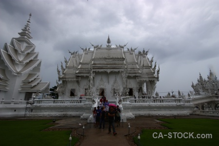 Thailand sky southeast asia wat rong khun white temple.