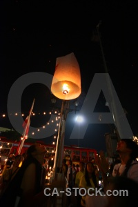Thailand southeast asia full moon festival light loi krathong.