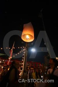Thailand southeast asia full moon festival light loi krathong.