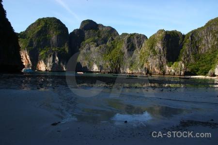 Thailand southeast asia island tropical maya bay.