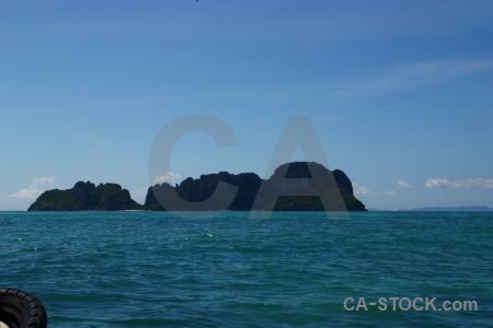 Thailand southeast asia phi island water sea.