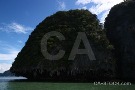Thailand southeast asia sea island cloud.