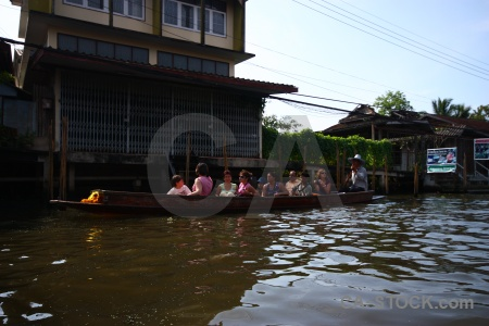 Thailand southeast asia ton khem canal floating.