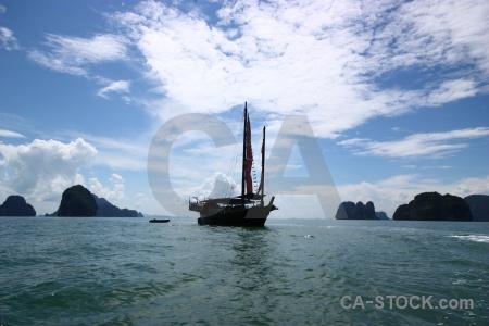 Thailand southeast asia water phang nga bay sky.