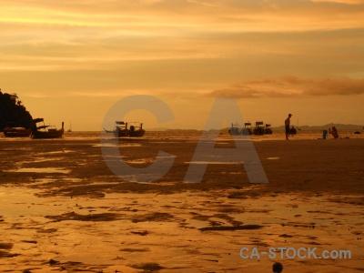 Thailand sunset loh dalam bay asia island.