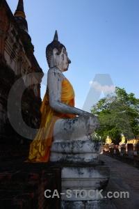 Thailand temple sky ayutthaya cloud.