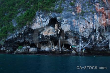 Thailand water phi island limestone sea.