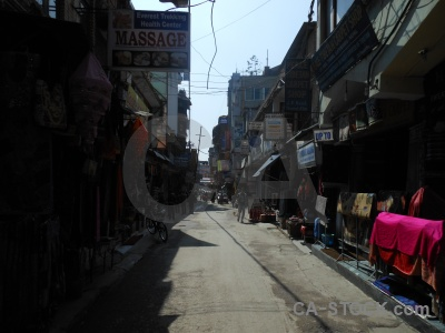 Thamel sky south asia building road.
