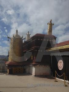 Tibet buddhist symbol lhasa building.
