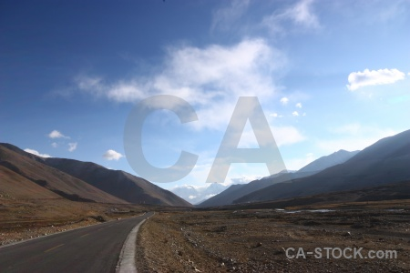 Tibet friendship highway mountain china cloud.