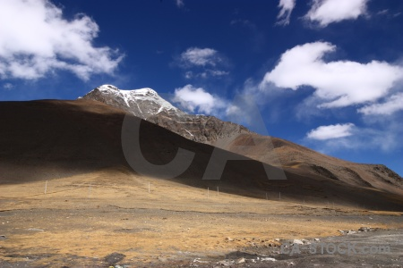 Tibet kora la snow mountain asia.