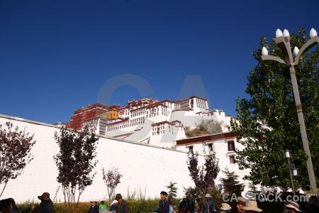Tibet potala palace lhasa sky altitude.