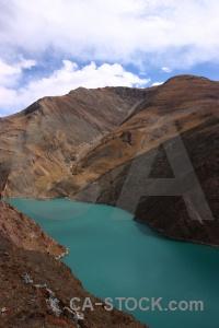 Tibet water dry sky china.