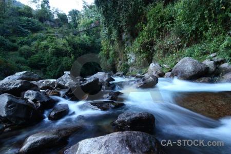 Tikhedhunga trek river annapurna sanctuary himalayan.