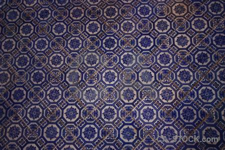 Tile blue texture.