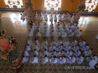 Toa thanh tay ninh religion pillar pray temple.