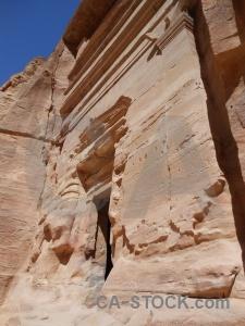 Tomb cliff petra ancient rock.