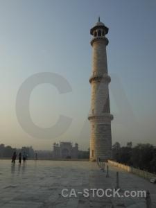 Tomb sky tower taj mahal india.