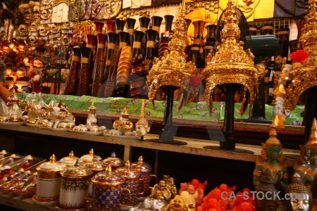 Ton khem floating thailand market asia.