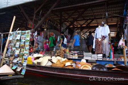 Ton khem market asia thailand canal.