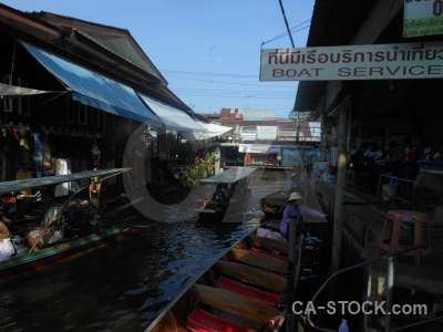Ton khem southeast asia canal building thailand.