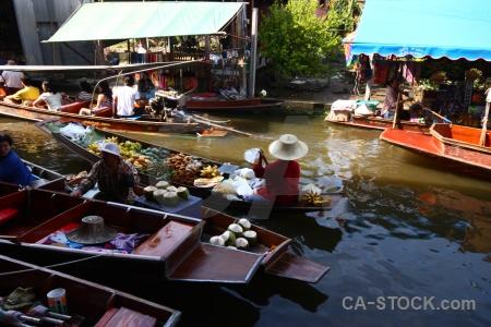 Ton khem water market floating damnoen saduak.
