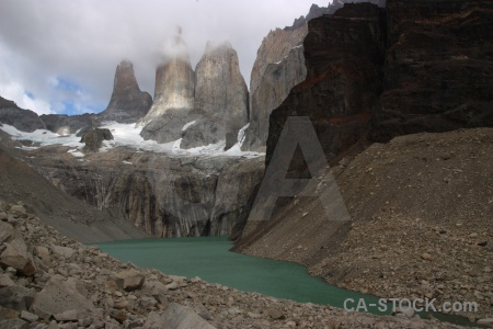 Torres del paine chile sky rock mountain.
