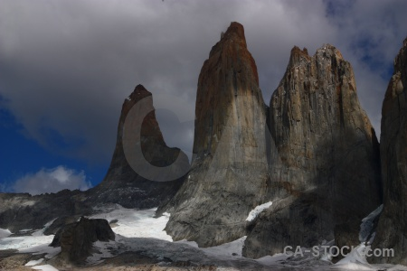Torres del paine cloud patagonia south america tower.
