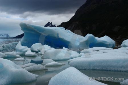 Torres del paine mountain iceberg lago grey ice.