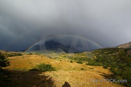 Torres del paine patagonia field trek rainbow.
