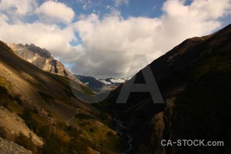 Torres del paine sky snowcap mountain landscape.
