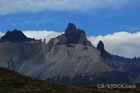Torres del paine south america patagonia circuit trek campsite.