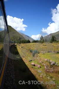 Train altitude andes peru grass.