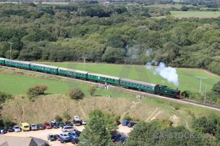 Train green field vehicle.