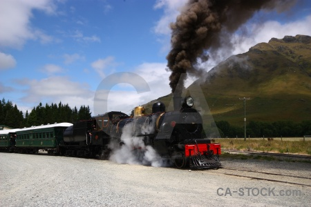 Train steam railway south island person.