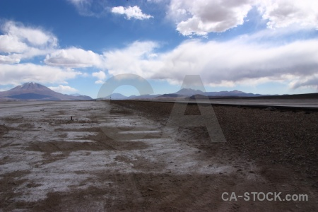 Train track sky landscape cloud salar de chiguana.