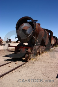 Train uyuni wreck sky south america.