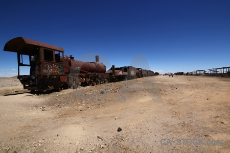Train wreck rust uyuni south america.