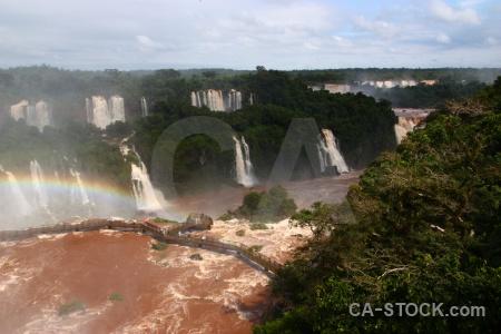 Tree iguazu falls water cloud waterfall.