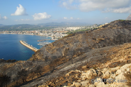 Tree javea rock ash montgo fire.