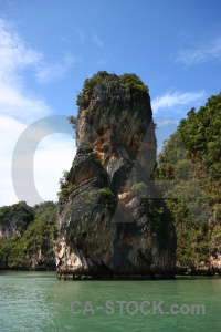 Tree phang nga bay cloud sky southeast asia.