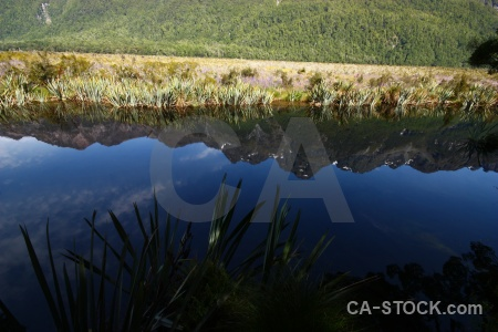Tree sky new zealand mountain mirror lakes.