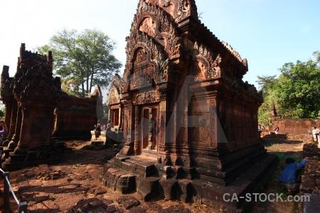 Tree unesco ruin cambodia sky.