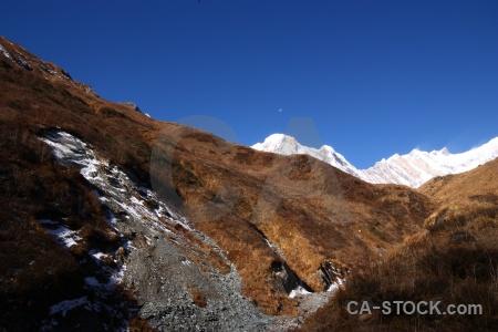 Trek landscape himalayan annapurna south sanctuary trek.