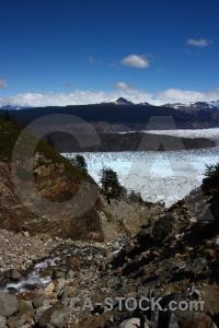 Trek landscape sky ice patagonia.