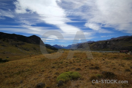Trek mountain sky patagonia argentina.