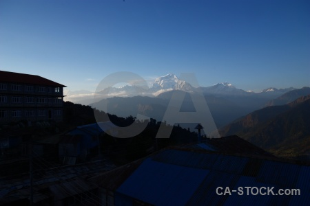 Trek snowcap annapurna sanctuary trek himalayan south asia.