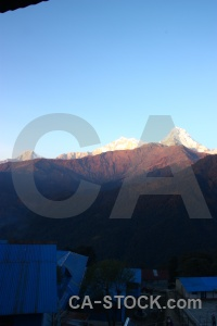 Trek snowcap sky annapurna south sanctuary trek.